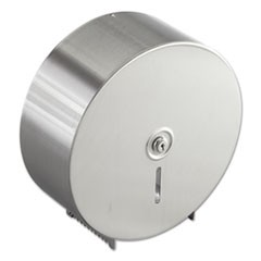 Jumbo Toilet Tissue Dispenser, Stainless Steel, 10.625W x 10.625H x 4.5D