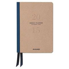 Metropolitan Weekly/Monthly Planner, 5 1/2 x 8 1/4, Tan/Navy, 2016