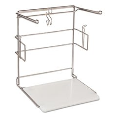 "T-Sack Rack for 1/6 Plastic Bags, Metal/Plastic, 12""w x 10 1/2""d x 14 1/2""h"