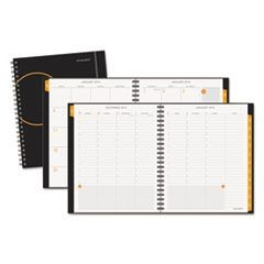 Poly Cover Weekly/Monthly Planner, 8 3/4 x 11, Black, 2016