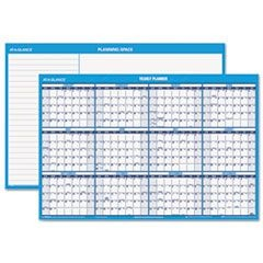 Horizontal Erasable Wall Planner, 36 x 24, Blue/White, 2016