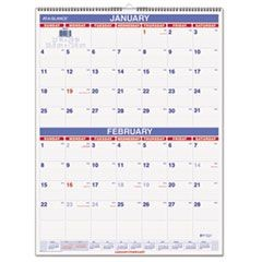 Two-Month Wall Calendar, 22 x 29, 2016