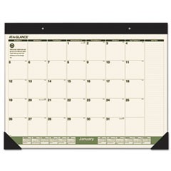 Recycled Monthly Desk Pad, 22 x 17, 2016