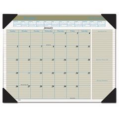 Executive Monthly Desk Pad Calendar, 22 x 17, Buff, 2016