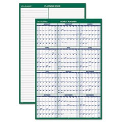 Vertical Erasable Wall Planner, 24 x 36, 2016