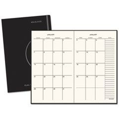 Monthly Planner, 7 1/2 x 10, Black, 2016