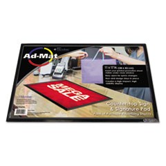AdMat Counter Mat, 11 x 17, Black Base