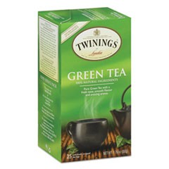 Tea Bags, Green, 1.76 oz, 25/Box