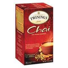 Tea Bags, Chai, 1.76 oz, 25/Box