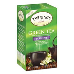 Tea Bags, Green with Jasmine, 1.76 oz, 25/Box