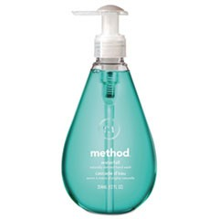 Gel Hand Wash, Waterfall, Teal, 12 oz Pump Bottle, 6/Carton