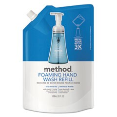 Foaming Hand Wash Refill, 28 oz Pouch, Sea Minerals, 6/Carton