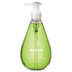 Gel Hand Wash, Green Tea & Aloe, 12 oz Pump Bottle