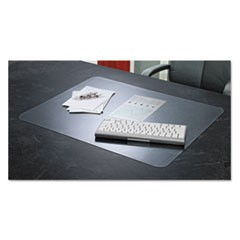 KrystalView Desk Pad with Antimicrobial Protection, 24 x 19, Matte Finish, Clear
