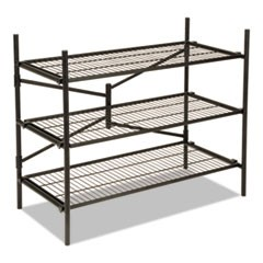 Instant Storage Shelving Unit, 3 Shelves, 42 3/4 x 20 3/4 x 35 3/4, Black