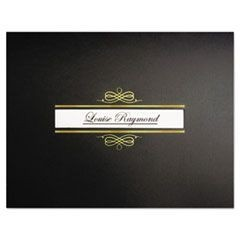 Regent Certificate Holders, 9 3/4 x 12 1/2, Black/Gold Foil, 10/Pack