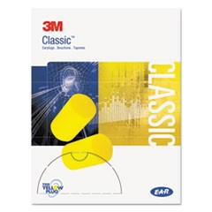 E�A�R Classic Small Earplugs in Pillow Paks, PVC Foam, Yellow, 200 Pairs