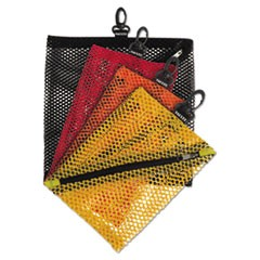 Vaultz Mesh Storage Bags, Black; Orange; Red; Yellow