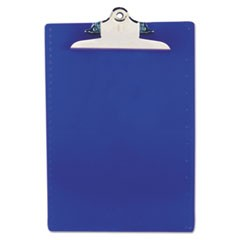 "Recycled Plastic Clipboards, 1"" Capacity, Holds 8 1/2w x 12h, Blue"