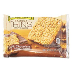 Dark Chocolate Granola Thins, 0.6 oz, Individually Wrapped, 15/Box