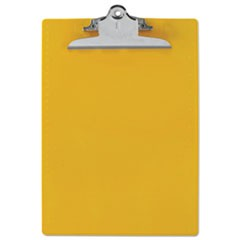 "Recycled Plastic Clipboards, 1"" Capacity, Holds 8 1/2w x 12h, Yellow"