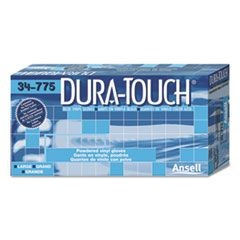 Dura-Touch PVC Gloves, Lightly Powdered, Medium, Blue