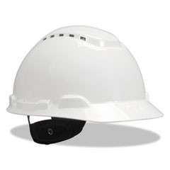 H-700 Series Hard Hat with Four Point Ratchet Suspension, Vented, White