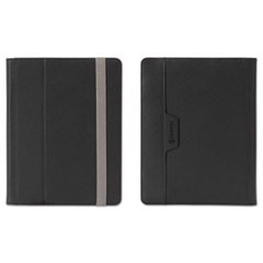 Passport Folio Case for E-Readers, L/XL, Nylon/Microsuede, Black/Silver