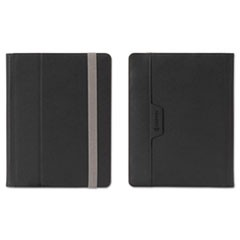 Passport Folio Case for E-Readers, S/M, Nylon/Microsuede, Black/Silver