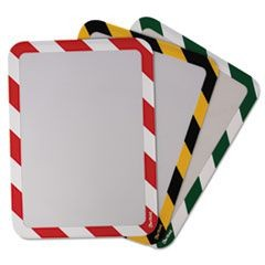High Visibility Safety Frame Display Pocket-Self Adhesive, 10 1/4 x 14 1/2, GN/W