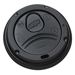 Drink-Thru Lids for 10-20 oz Cups, Plastic, Black