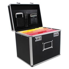 Locking Security File Box, Letter, 13 3/8 x 10 3/8 x 13 1/4, Black
