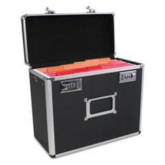 Locking Security File Box, Letter, 13 3/8 x 7 1/4 x 12 1/4, Black