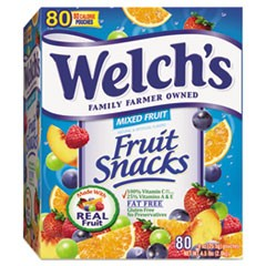 Fruit Snacks, 0.9 oz Pouch, 80/Box