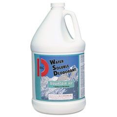 Water-Soluble Deodorant, Mountain Air, 1gal, 4/Carton