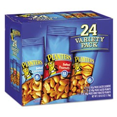 Variety Pack Peanuts & Cashews, 1.75 oz/1.5 oz Bag, 24/Box