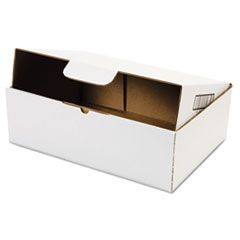 Self-Locking Shipping Boxes, 13l x 9w x 4h, White, 25/Pack