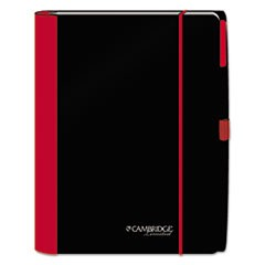 Accents Business Notebook, 10 x 11 1/4, Legal Rule, Red Cover, 100 Sheets