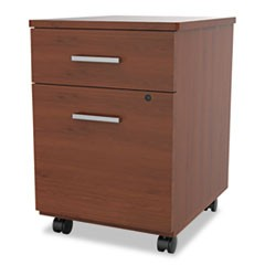 Seven Series Mobile Pedestal File, Box/File Drawer, Cherry