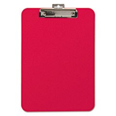 "Unbreakable Recycled Clipboard, 1/4"" Capacity, 8 1/2 x 11, Red"
