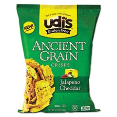 Gluten Free Ancient Grain Crisps, Jalapeno Cheddar, 4.93 oz Bag