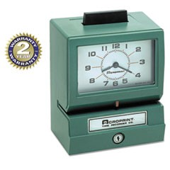 1Model 125 Analog Manual Print Time Clock with Month/Date/0-12 Hours/Minutes