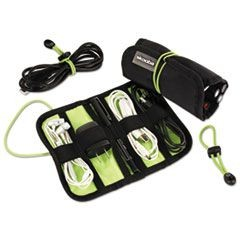 Cable Stable Roll-Up with Zipper Closure, Black/Green