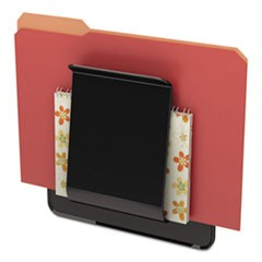 Stand Tall Wall File, Legal/Letter/Oversized, One Pocket, Black