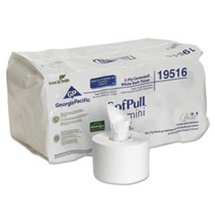 SofPull Mini Centerpull Bath Tissue, Septic Safe, 2-Ply, White, 5.25 x 8.4, 500 Sheets/Roll, 16 Rolls/Carton