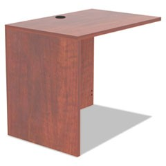 Alera Valencia Series Reversible Return/Bridge Shell, 35w x 23 5/8d x 29 1/2h, Medium Cherry