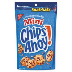 Chips Ahoy Cookies, Chocolate Chip, 8 oz Snak Sak