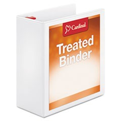 Treated Binder ClearVue Locking Slant-D Ring Binder, 4