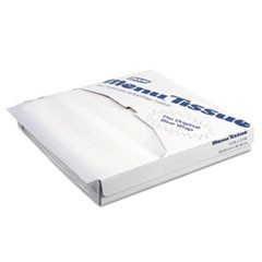 Menu Tissue Untreated Paper Sheets, 12 x 12, White, 1000/Pack, 10/Carton