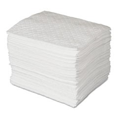 MAXX Enhanced Oil-Only Sorbent Pads, .3gal, 15w x 19l, White, 100/Bundle